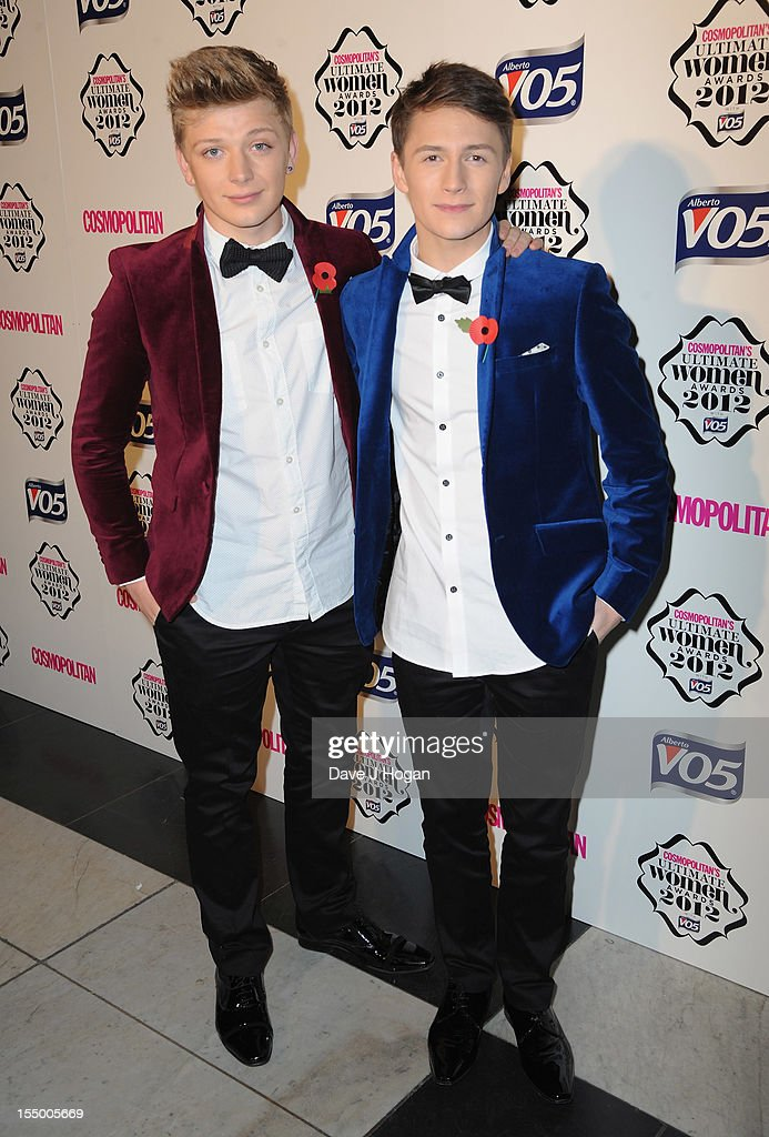 Micky Parsons and Dan Ferrari-Lane attends the Cosmopolitan Ultimate Woman of the Year awards at Victoria & Albert Museum on October 30, 2012 in London, England.