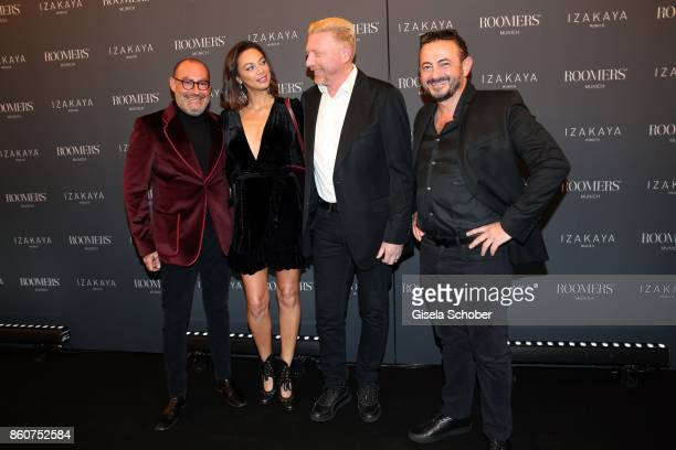 Micky Rosen Owner of Gekko Group/Roomers Boris Becker and his wife Lilly Becker Alex Urseanu Owner of Gekko Group/Roomers during the grand opening of...
