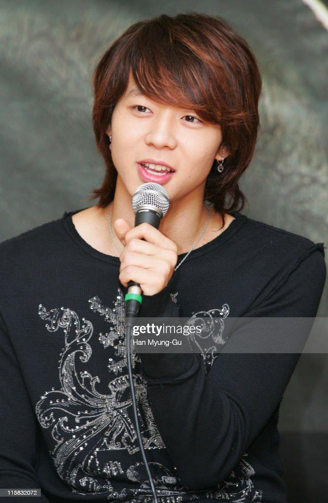Micky YooChun of DongBangSinki during DongBangSinki on Location for 'Loving On Earth' at Gwangju Church in Gwangju City Gwangju South Korea