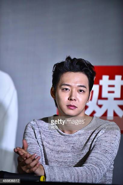 Micky Yoochun of South Korea group JYJ attends press conference of new live on September 20 2014 in Shanghai China