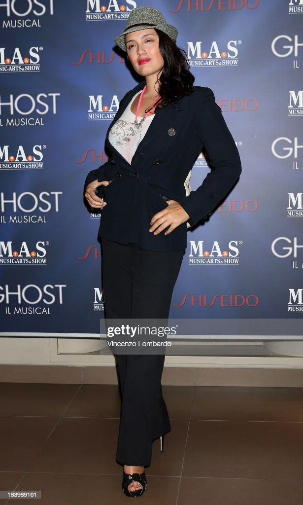 Micol Ronchi attends the opening night of 'Ghost - The Musical' at the Teatro Nazionale on October 10, 2013 in Milan, Italy.