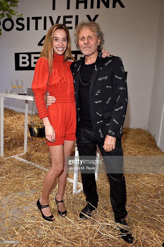Micol Sabbadini and Renzo Rosso attend Renzo Rosso And OTB Launch 'Radical Renaissance 555' Book on June 17 2016 in Milan Italy
