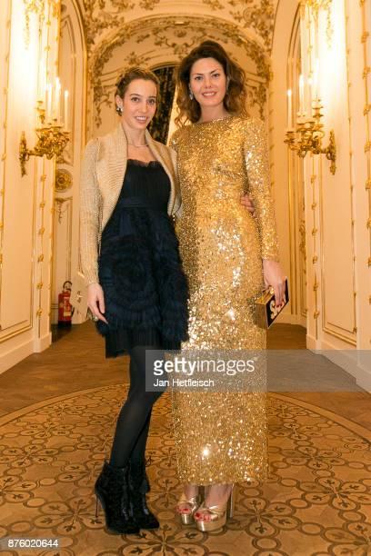 Micol Sabbadini and Sara Battaglia attend the Aquazzura x Mytheresacom dinner at Palais Liechtenstein on November 18 2017 in Vienna Austria
