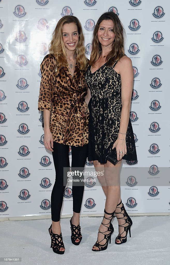 Micol Sabbadini (L) and Valentina Micchetti attend a private dinner celebrating Remo Ruffini and Moncler's 60th Anniversary during Art Basel Miami Beach on December 7, 2012 in Miami Beach, Florida.