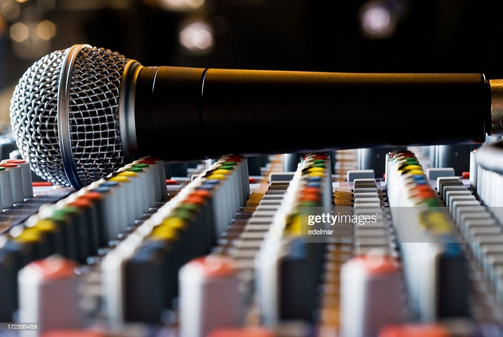 Microphone and Mixing Board