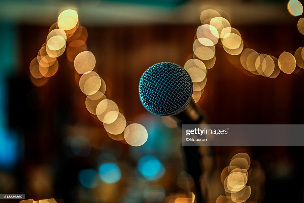 Microphone and party lights