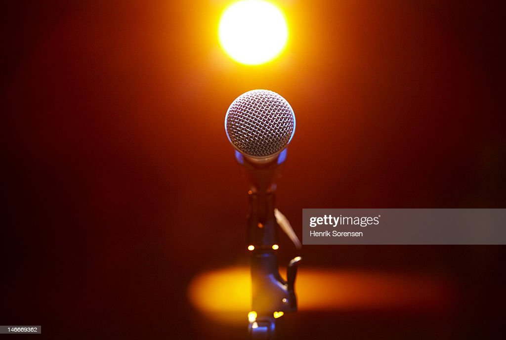 Microphone at a concert : Stock Photo