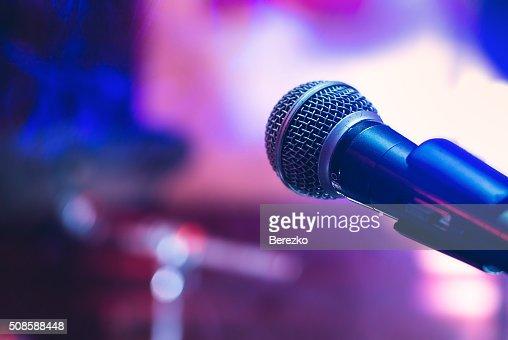 Micrófono en concierto : Foto de stock