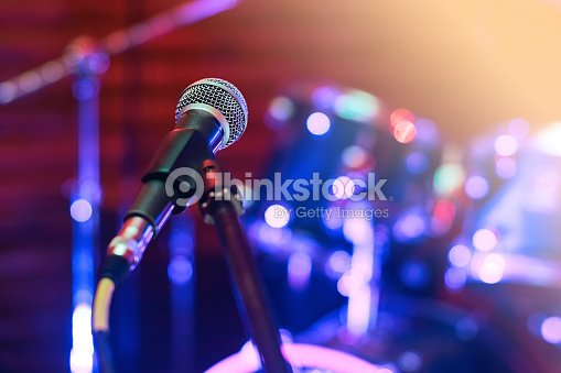 Microphone at concert : Stock Photo