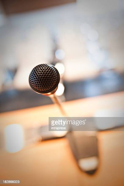 microphone, before A Conference