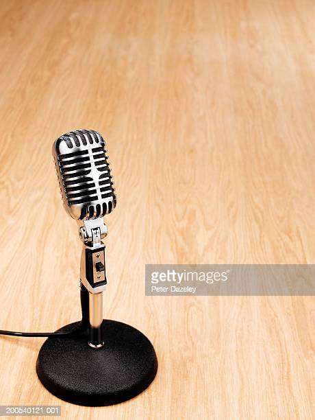 Microphone on desk, close-up