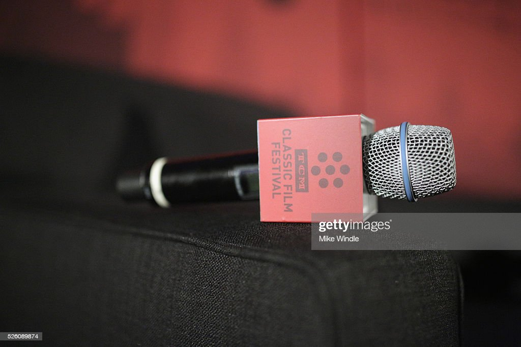 Microphone on display during day 2 of the TCM Classic Film Festival 2016 on April 29, 2016 in Los Angeles, California. 25826_008