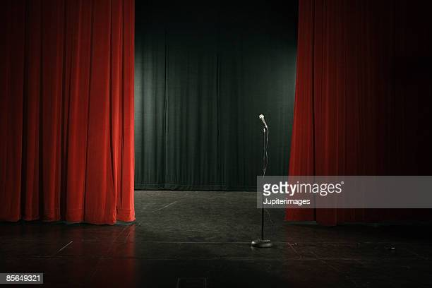 Microphone on empty stage