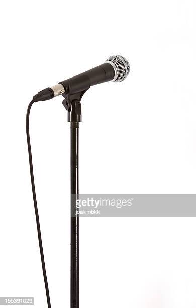 Microphone with clipping path isolated on white