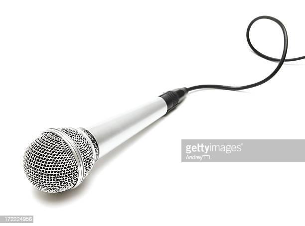 Microfono con cavo a ricciolo
