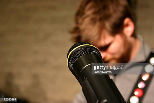 Microphone with Singer