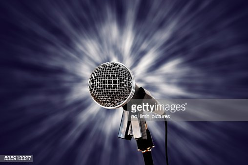 microphone with vintage background : Stock Photo
