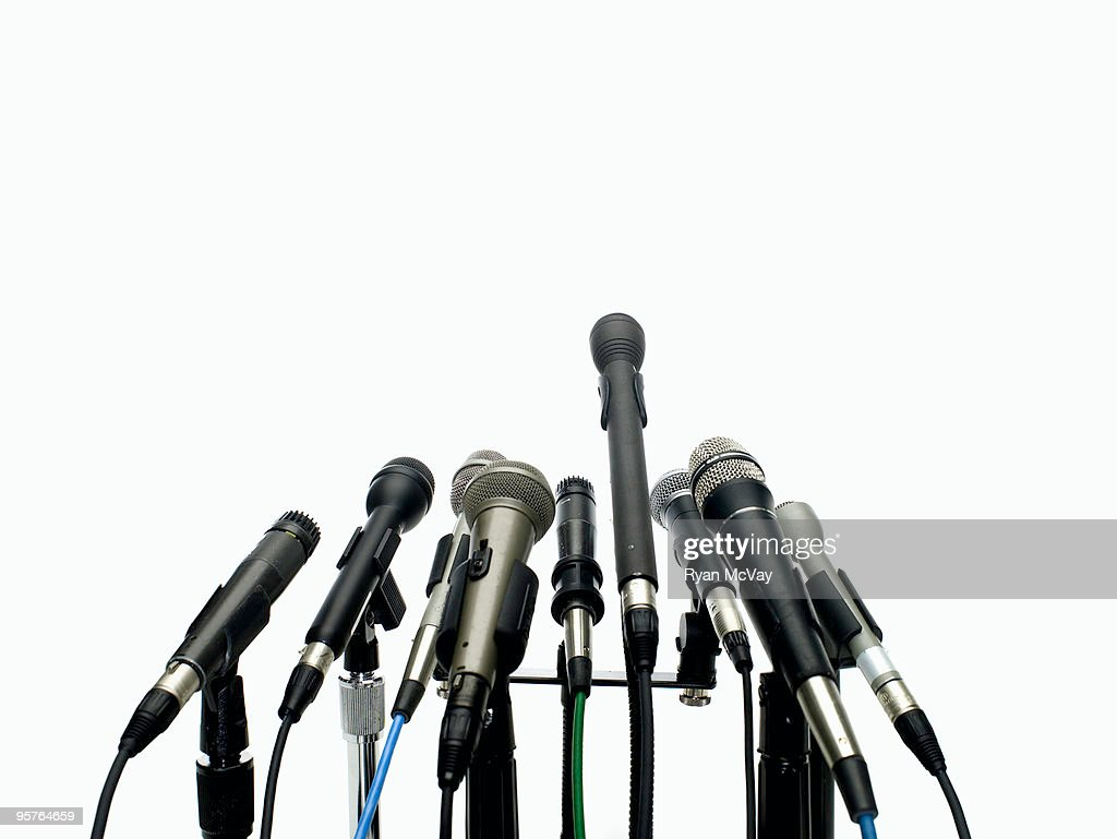 microphones on white : Stock-Foto