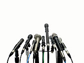 microphones on white