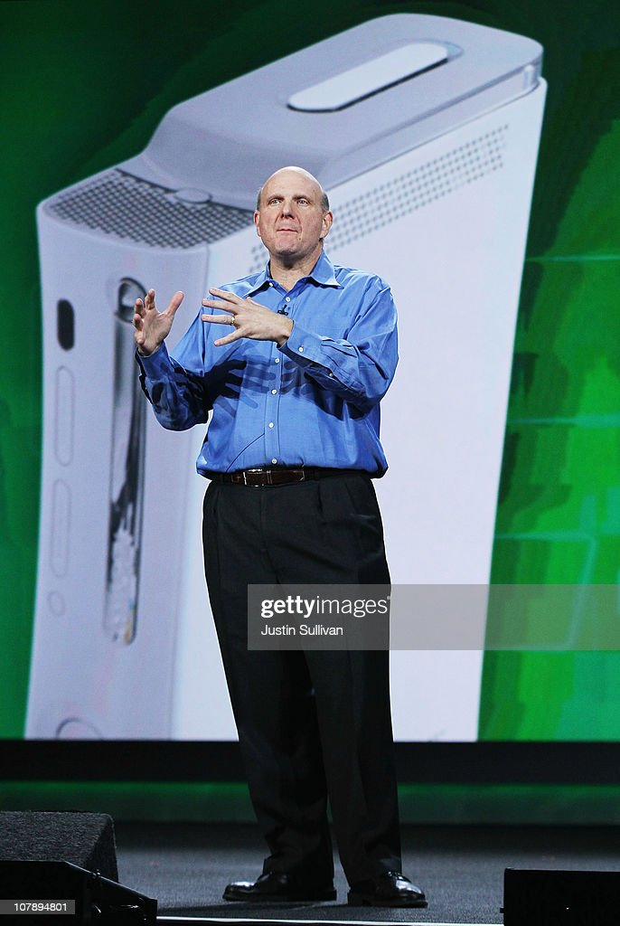 Microsoft CEO <a gi-track='captionPersonalityLinkClicked' href=/galleries/search?phrase=Steve+Ballmer&family=editorial&specificpeople=211258 ng-click='$event.stopPropagation()'>Steve Ballmer</a> delivers a keynote address at the 2011 International Consumer Electronics Show at the Las Vegas Hilton January 5, 2011 in Las Vegas, Nevada. CES, the world's largest annual consumer technology tradeshow, runs from January 6-9 and is expected to feature 2,700 exhibitors showing off their latest products and services to about 126,000 attendees.