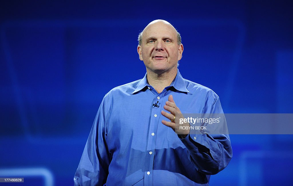 Microsoft CEO <a gi-track='captionPersonalityLinkClicked' href=/galleries/search?phrase=Steve+Ballmer&family=editorial&specificpeople=211258 ng-click='$event.stopPropagation()'>Steve Ballmer</a> gives his keynote speech at the 2011 International Consumer Electronics Show January 5, 2011 in Las Vegas, Nevada. CES, the world's largest annual consumer technology tradeshow, officially runs from January 6-9. AFP PHOTO / Robyn Beck