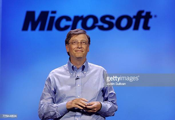 Microsoft chairman Bill Gates delivers a keynote address at the 40th annual Consumer Electronics Show convention January 7 2007 in Las Vegas Nevada...