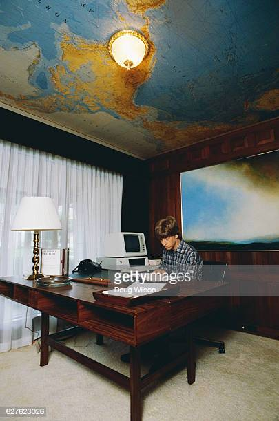 Microsoft Cofounder Bill Gates at Home