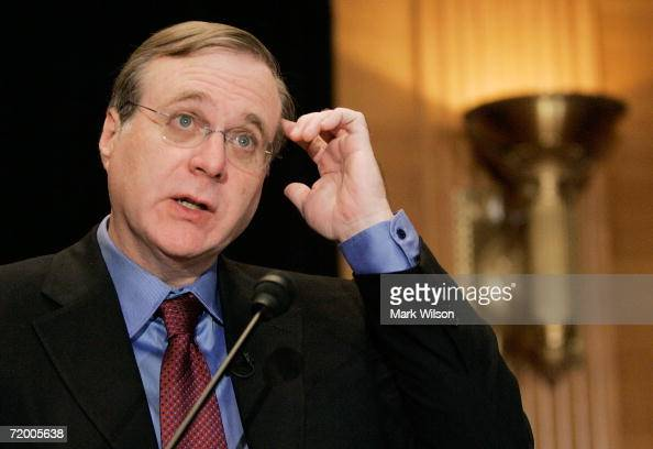 Microsoft cofounder Paul G Allen speaks about the completion of the Allen Brain Atlas during a news conference on Capitol Hill September 26 2006 in...