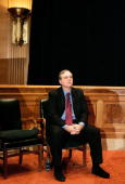 Microsoft cofounder Paul G Allen waits to speak about the completion of the Allen Brain Atlas during a news conference on Capitol Hill September 26...