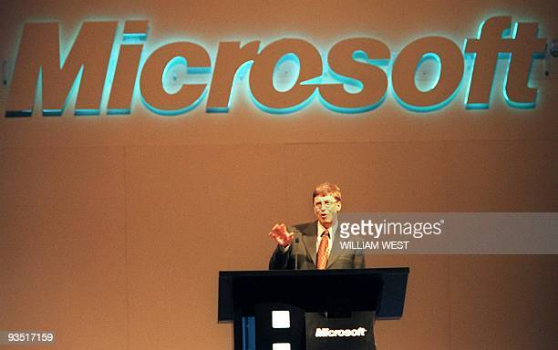 Microsoft Corp chairman Bill Gates speaks to the media on a two day visit to Australia where he will meet the Prime Minister John Howard and other...