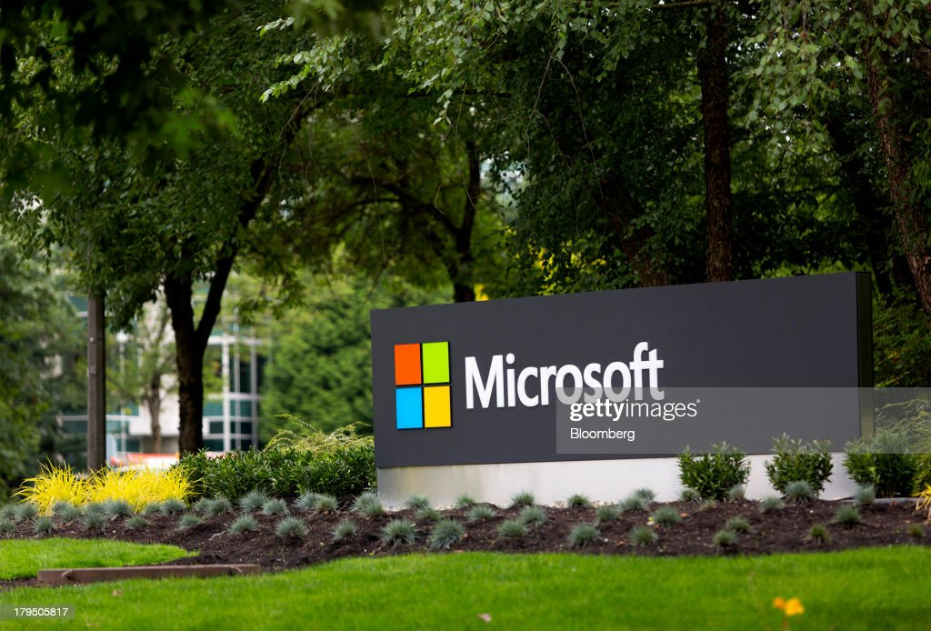 Microsoft Corp signage is displayed at the company's campus in Redmond Washington US on Wednesday Sept 4 2013 Microsoft Corp agreed to buy Nokia...
