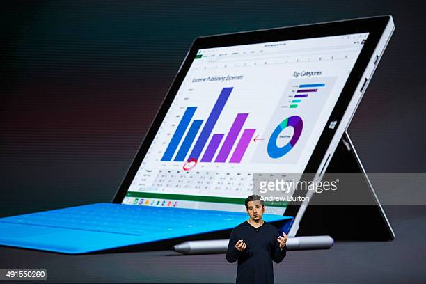Microsoft Corporate Vice President Panos Panay introduces a new tablet titled the Microsoft Surface Pro 4 at a media event for new Microsoft products...