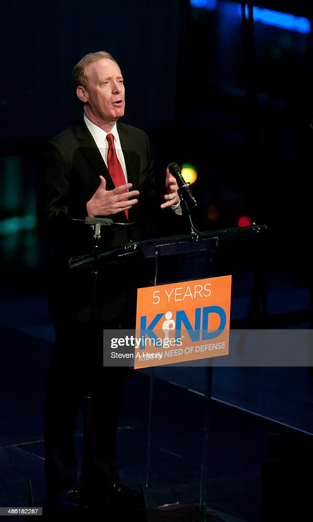 Microsoft General Counsel Brad Smith speaks at the 2014 Kids In Need Of Defense Gala Benefit Dinner at Frederick P. Rose Hall, Jazz at Lincoln Center on April 22, 2014 in New York City.