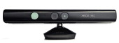 A Microsoft Kinect motion sensor device photographed on a white background taken on May 8 2013