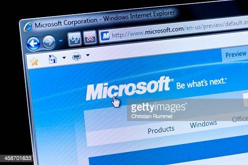 Microsoft - Macro shot of real monitor screen