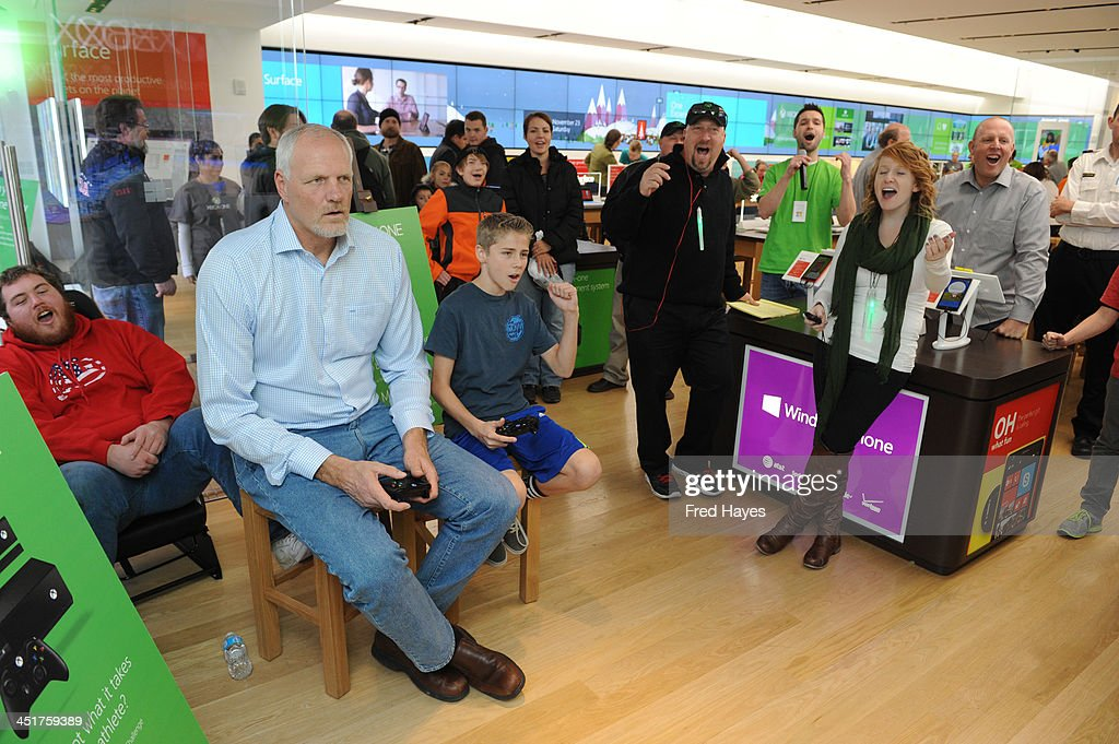 Microsoft retail store and former Utah Jazz basketball player Mark Eaton host the Xbox One Sports Star Challenge event at City Creek Center on November 23, 2013 in Salt Lake City, Utah.