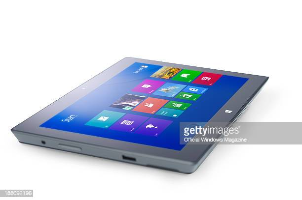 A Microsoft Surface Pro tablet PC photographed on a white background taken on April 4 2013