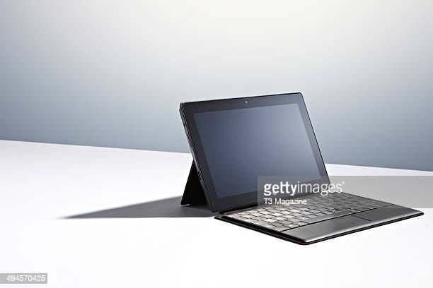A Microsoft Surface Pro tablet photographed on a white background taken on September 10 2013