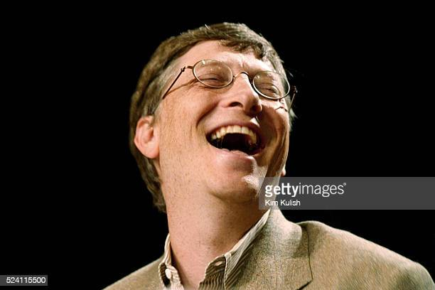 Microsoft's Chairman Bill Gates at a luncheon in San Jose for the Rainbow/PUSH Coalition conference High tech and telecommunications industry leaders...