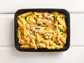 Microwave Dinner -Chicken and Penne Alfredo-Photographed on Hasselblad H3D2-39mb Camera