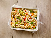 Microwave Dinner -Pasta Primavera with Chicken and Vegetables-Photographed on Hasselblad H3D2-39mb Camera
