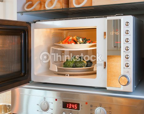 Microwave Oven Tray Stock Photo