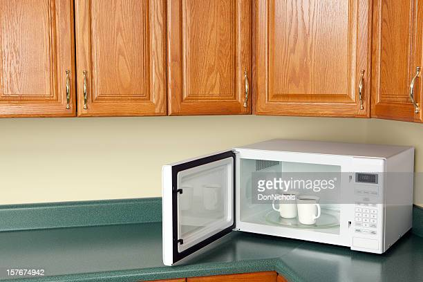 Microwave with Coffee