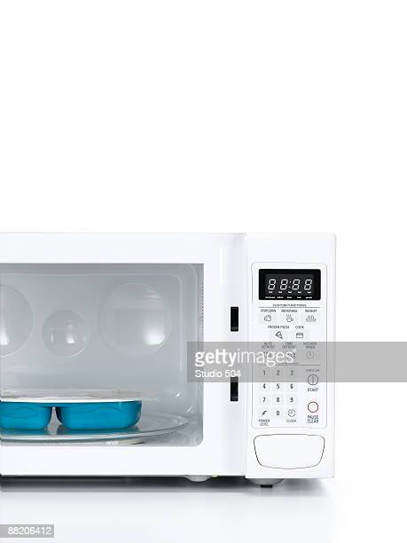 Microwave with TV dinner