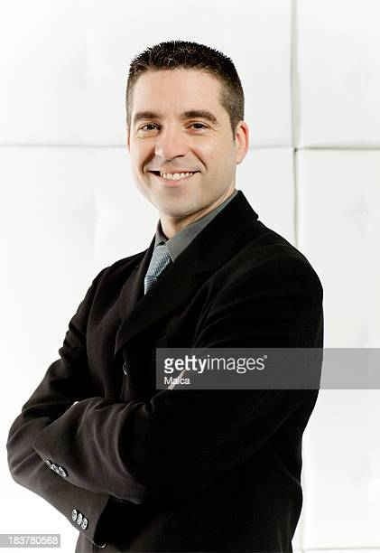 Mid adult confident business man
