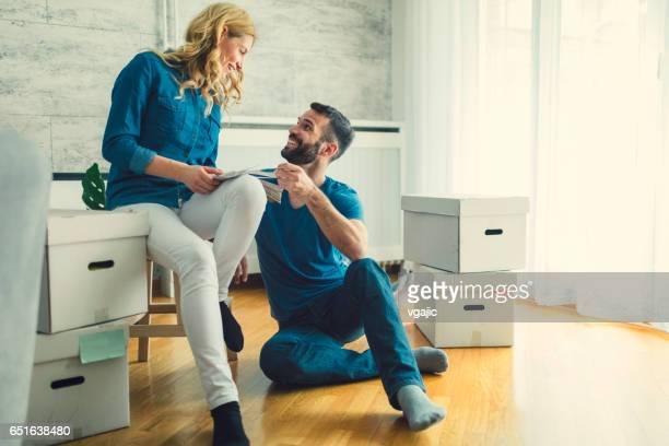 Maison mobile milieu de couple adulte