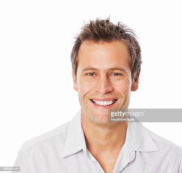 Mid Adult Man Smiling - Isolated