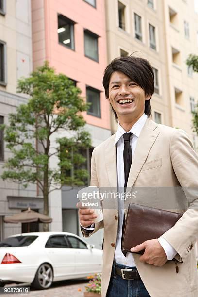 Mid adult man walking on street