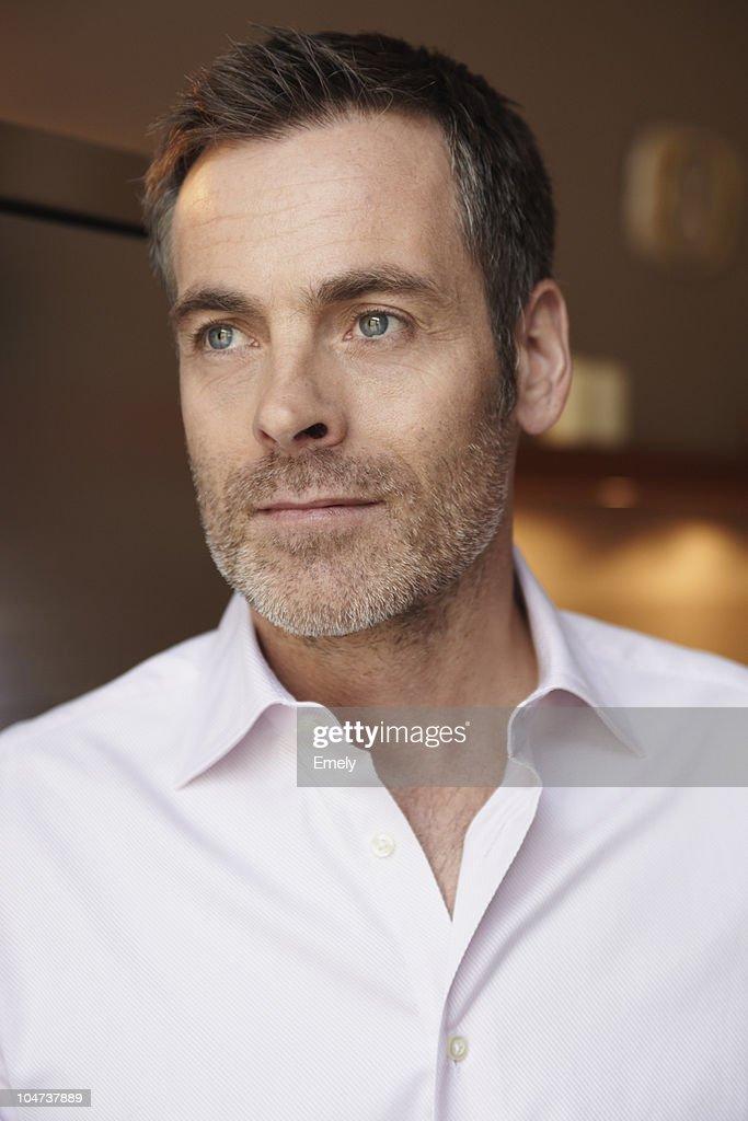 Mid age man portrait : Stock Photo