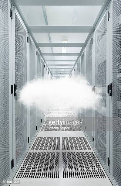 Mid air cloud in data centre cabinet
